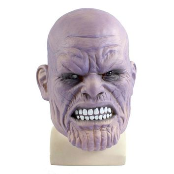 2018 Movie Avengers 3 Infinity War Thanos Masks Latex Adult Cosplay Face Full Head Helmets Party Halloween Costume Props