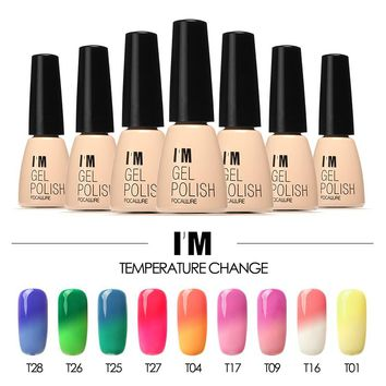 I'M Gel 7ml Gel varnish Nail Gel Polish Chameleon Temperature Color Changing Nail Polish Thermal Color Change UV Gel Lacquer