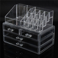 4 Drawers Acrylic Clear Makeup Organizer Cosmetic Display Nail Polish Storage Holder
