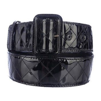 Burberry Quilted Patent Belt