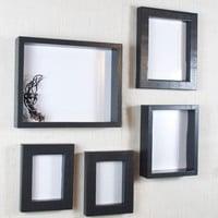 Gallery Wall Picture Frame Set - Black - Deep Frame and Shadow Box Frame - Black Picture Frames