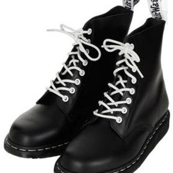 DM Contrast Lace Up Boots - Boots  - Shoes