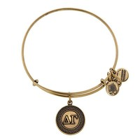 Alex and Ani Delta Gamma Charm Bangle - Russian Gold