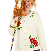 Poinsettias Are Average Ugly Christmas Sweater
