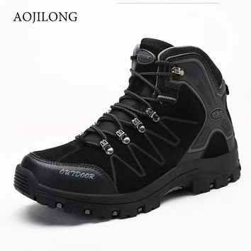 MANLI men tactical hiking boots sneakers for waterproof breathable mountaineer camping shoes outdoor sport climbing walking shoe