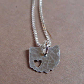 Tiny Ohio State Necklace