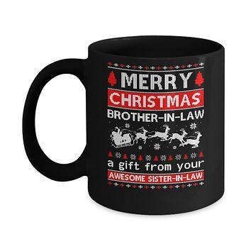 Merry Christmas Brother-In-Law A Gift From Your Sister-In-Law Sweater Mug
