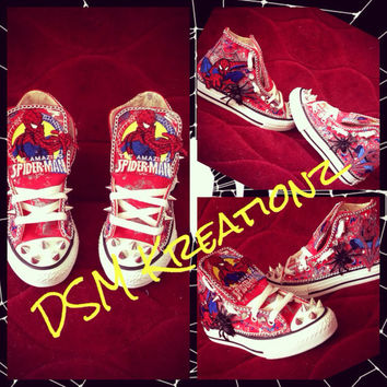 Custom SpiderMan Converse Shoes