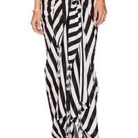 MIKOH Snapper Rocks Oversized Beach Sarong in Swell Lines