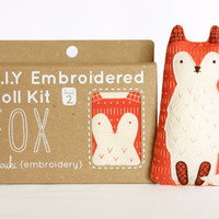 Fox - DIY Embroidery Kit