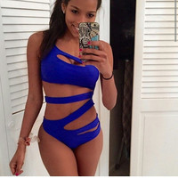 Women's One Piece Strappy Bathing Suit