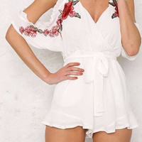 Juno Floral Playsuit