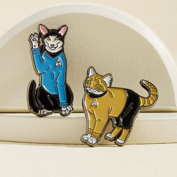 Paw Trek Enamel Pin Set