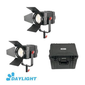 2 Pcs CAME-TV Boltzen 100w Fresnel Fanless Focusable LED Daylight Kit
