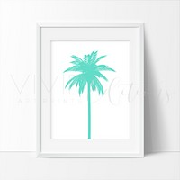 Palm Tree, Teal