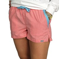 Lounge Short in Watermelon Seersucker by Frat Collection - FINAL SALE