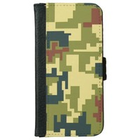 Green Camouflage Pattern iPhone 6/6s Wallet Case