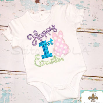 1st Easter Bunny Shirt, Gown or Bodysuit
