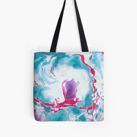 'Colorful marble texture.' Tote Bag by kakapostudio