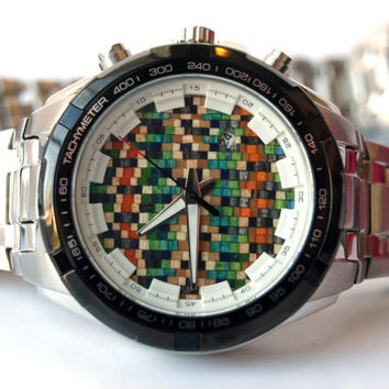 Mens Watch. Recycled Skateboard Dial. Made in Canada (10091381)