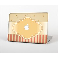 The Bright Glossy Gold Polka & Striped Label Skin Set for the Apple MacBook Air 13""