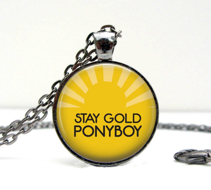 The outsiders necklace stay gold from lizabettas yeet for Stay gold ponyboy