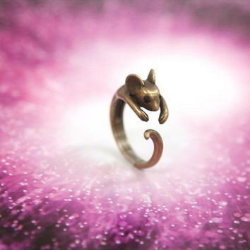 Stylish Shiny Jewelry New Arrival Gift Korean Accessory Lovely Mouse Ring [6586344007]