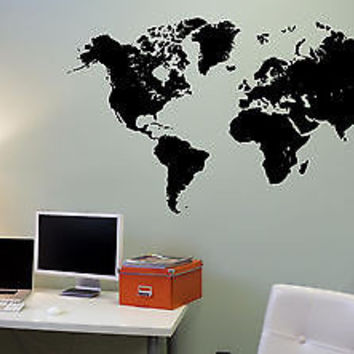 Best world map wall mural products on wanelo wall mural vinyl decal sticker world map al301 gumiabroncs Images