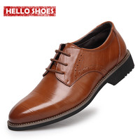 New High Quality Genuine Leather Men Shoes Brogues, Lace-Up Bullock Business Men Oxfords Shoes Men Dress Shoes