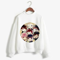 KPOP BTS Bangtan Boys Army   Member Self Portrait Album Cartoon BT 21 K Pop Women Turtleneck Clothes BT21 Korean Ladies Hoodies Pullover Tops AT_89_10