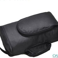 Black puffed shoe carrier -