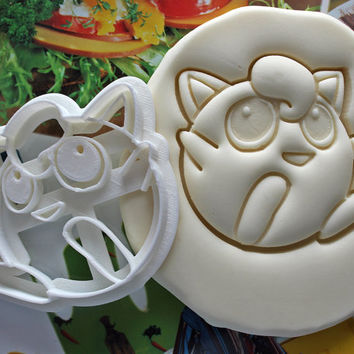JigglyPuff Pokemon Cookie Cutter / Made From Biodegradable Material / Brand New / Party Favor / Kids Birthday / Baby Shower / Cake Topper