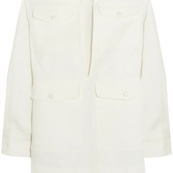 Sonia Rykiel - Oversized linen and ramie-blend jacket