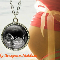 Sonogram Necklace - Mommy to Be - Ultrasound Pendant
