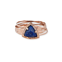 SMALL TRIANGLE MULTI WAIF RING - ASSORTED GEMSTONES