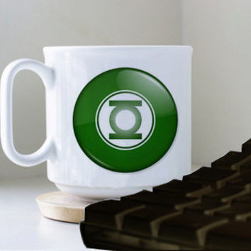Green Lantern Logo mug heppy mug coffee, mug tea, size 8,2 x 9,5 cm.