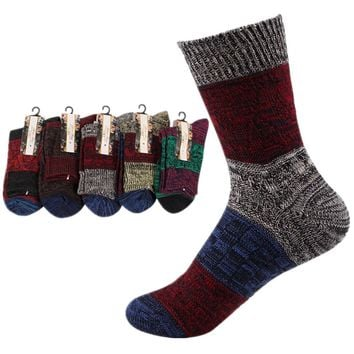 SDBING Women's Super Thick Winter Socks Knit Wool Socks 5 Pack