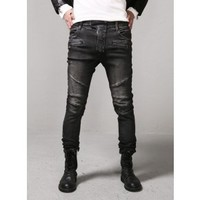 Mens Real Biker Jeans-Black at Fabrixquare