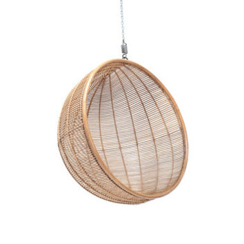 Hanging Rattan Ball Chair In Two Colours