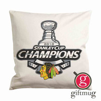 Chicago Blackhawks Stanley Cup Cushion Case / Pillow Case