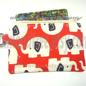 Elephant change purse, coin purse id1340488 card purse, zip purse, id work lanyard, jogging purse, card wallet, zip wallet, bag organizer