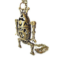 """Bronze """"Take Me To Your Leader"""" Pendant"""