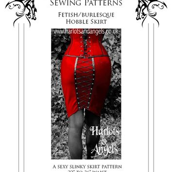 "Fetish Clubwear Wiggle ""Corset"" skirt Sewing Pattern (WGGS)"