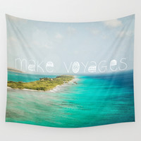 Make Voyages Wall Tapestry by Jenndalyn