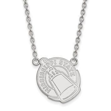 NCAA Sterling Silver Mississippi State Large Pendant Necklace
