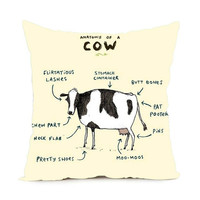Anatomy of a Cow Pillowcase