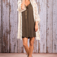 Beautiful Life Cardigan, Natural