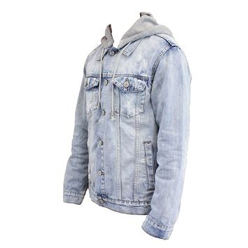 Nick Hooded Denim Jacket (Indigo)