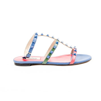 Valentino Womens Ankle Strap Flat Sandal KW2S0475 VHE S64