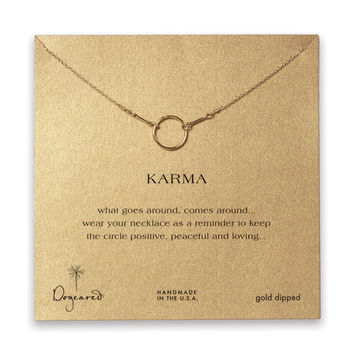 Dogeared, The Original Karma Necklace, Gold Dipped 16 inch